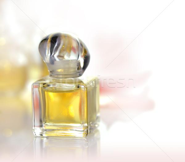 Parfüm şişe küçük beyaz moda güzel Stok fotoğraf © saddako2