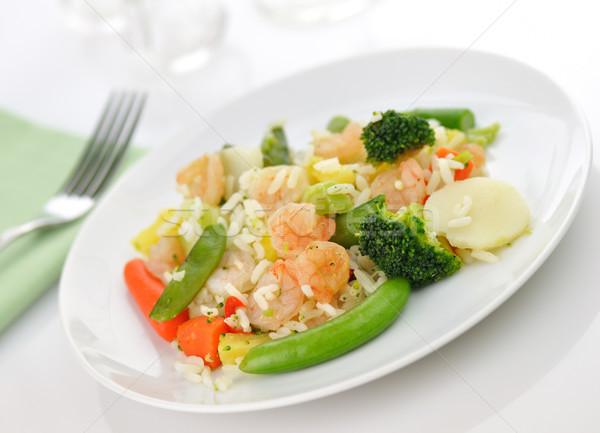 sweet and sour shrimp dinner Stock photo © saddako2