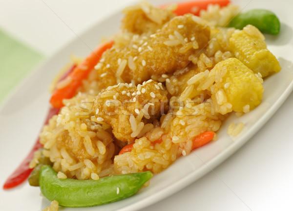 Sesam oranje kip witte vlees rijst Stockfoto © saddako2