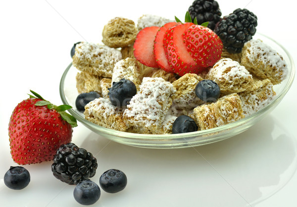 Shredded Wheat Cereal with fruits and berries  Stock photo © saddako2