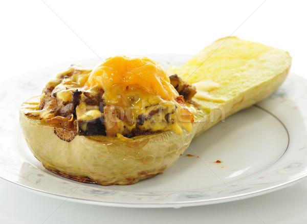 Töltött fallabda sajt étel nyár tányér Stock fotó © saddako2