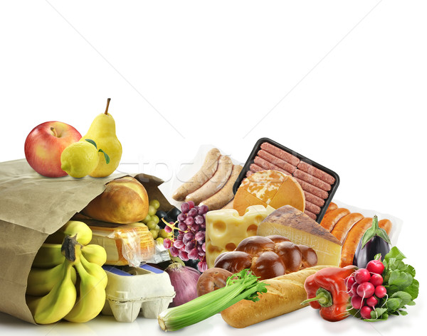 Paper Bag With Food Stock photo © saddako2