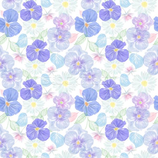 seamless floral pattern Stock photo © saddako2
