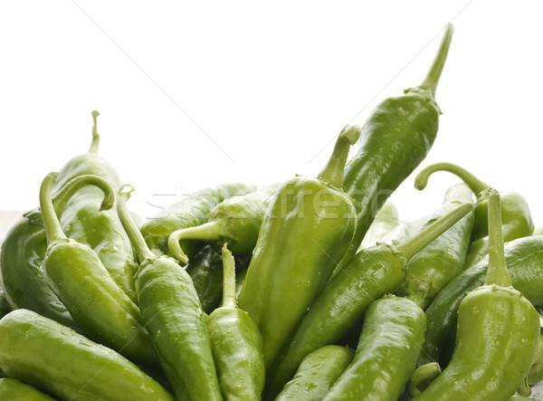 Friss zöld paprika harang zöldség aratás Stock fotó © saddako2