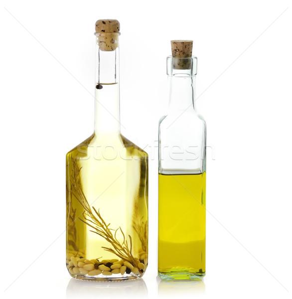 étolaj üvegek üveg fehér étel üveg Stock fotó © saddako2