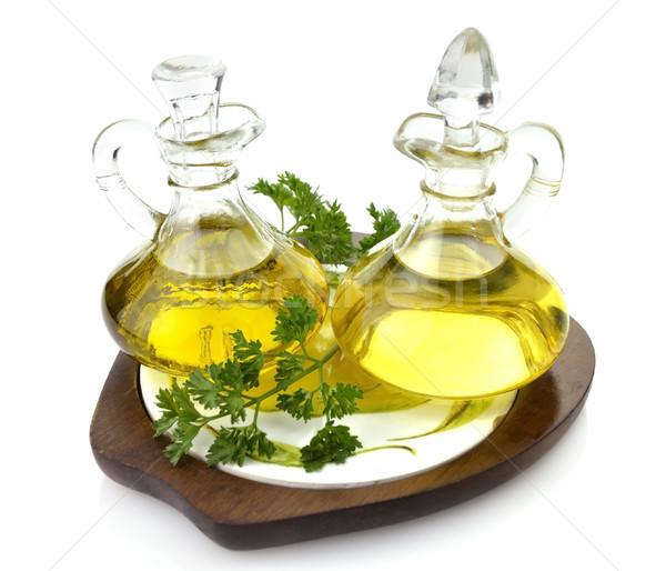étolaj fehér közelkép üveg üveg olívaolaj Stock fotó © saddako2