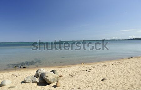 Photo stock: Lac · Michigan · plage · eau · paysage · été