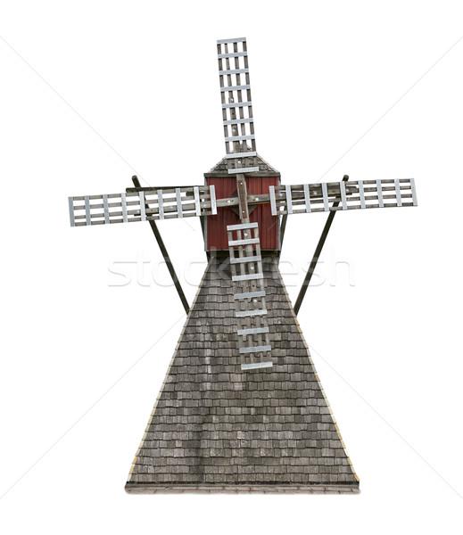 Old Wooden Windmill Stock photo © saddako2