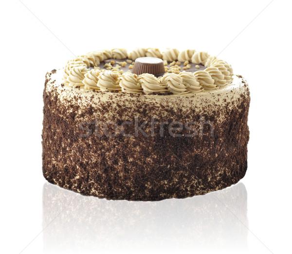 chocolate peanut butter cake Stock photo © saddako2