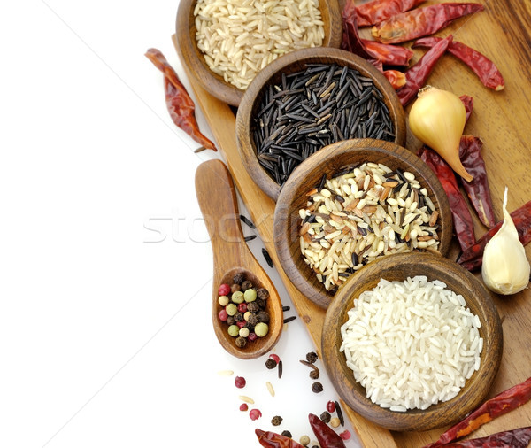 Raw Rice Assortment Stock photo © saddako2