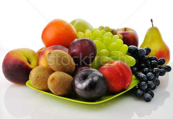 Vers vruchten groene schotel achtergrond Stockfoto © saddako2