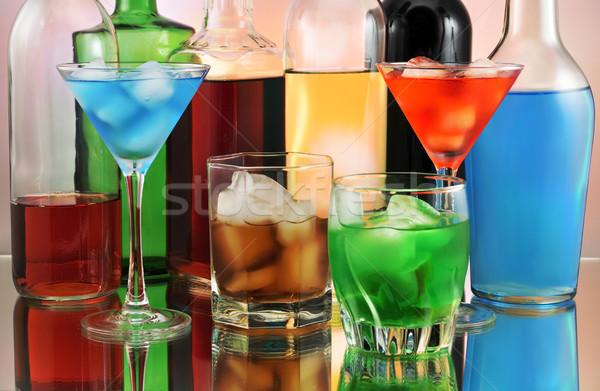 Variété boissons vin verre fond Photo stock © saddako2