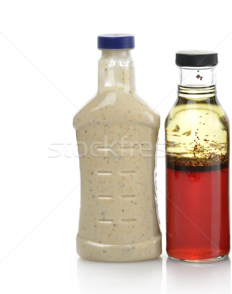 Salata salata sosu şişeler gıda şişe Stok fotoğraf © saddako2