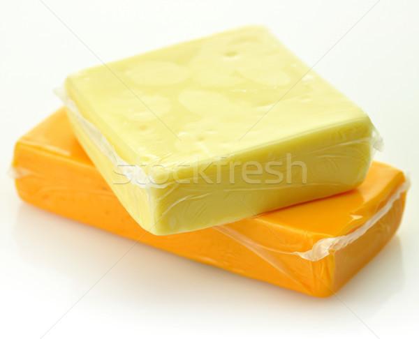 чеддер сыра два блоки жира белый Сток-фото © saddako2