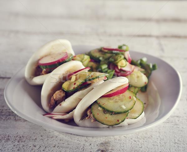 Rundvlees Turkije gestoomd voedsel groene lunch Stockfoto © saddako2