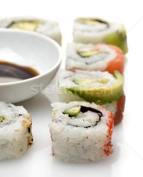 Stok fotoğraf: Sushi · soya · sosu · gıda · deniz · ürünleri