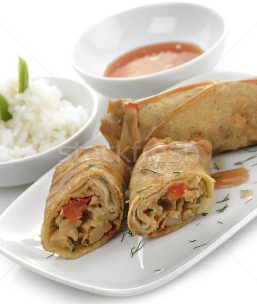 Fried Chicken Rolls Stock photo © saddako2