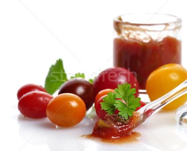Salsa taze domates sebze Stok fotoğraf © saddako2