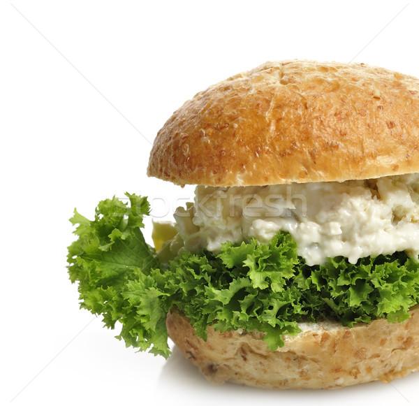 Tavuk salatası sandviç beyaz gıda ekmek öğle yemeği Stok fotoğraf © saddako2