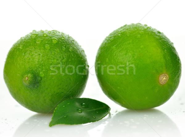 Friss citrus levél fehér étel háttér Stock fotó © saddako2