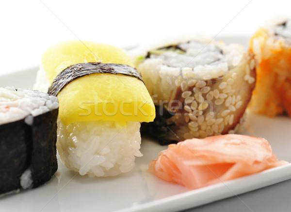 sushi on a white dish Stock photo © saddako2