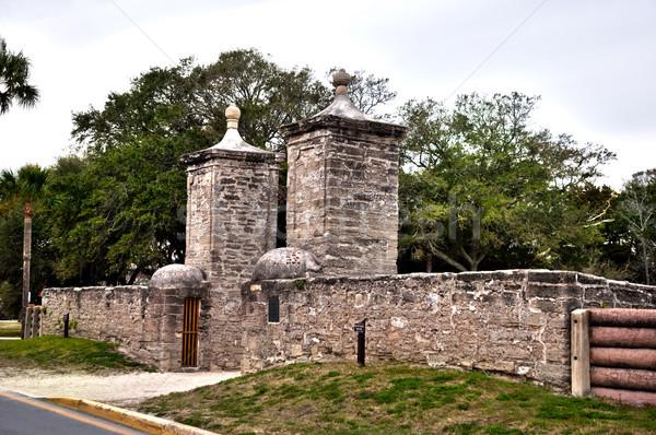 Gate in Historic St. Augustine, Florida. Stock photo © saddako2