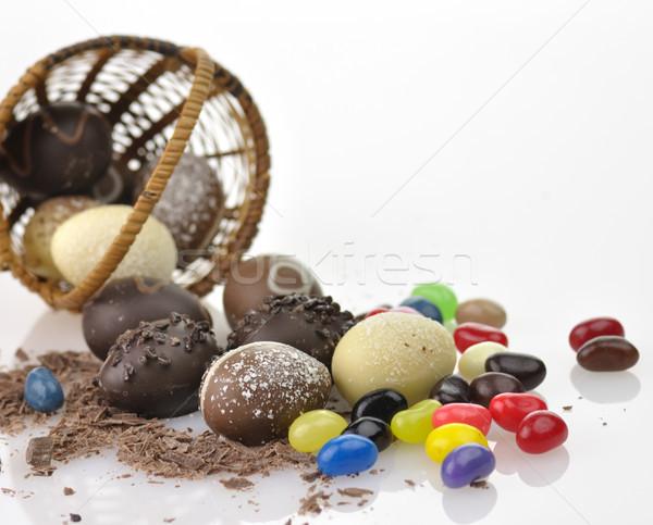 chocolate eggs and candies Stock photo © saddako2