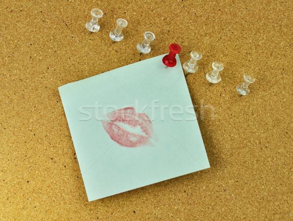 Parafa tábla közelkép csók jegyzet terv háttér Stock fotó © saddako2