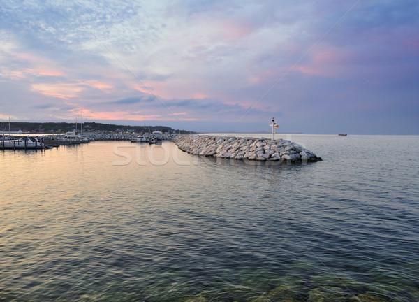 Lago tramonto cielo acqua panorama estate Foto d'archivio © saddako2