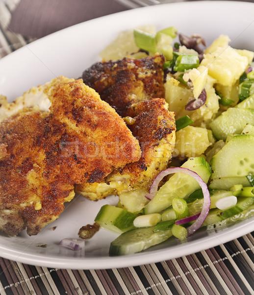 Chicken Schnitzel With Vegetables Stock photo © saddako2