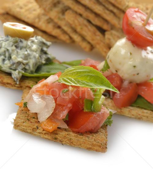 Aperitivos hortalizas mozzarella queso hierbas especias Foto stock © saddako2