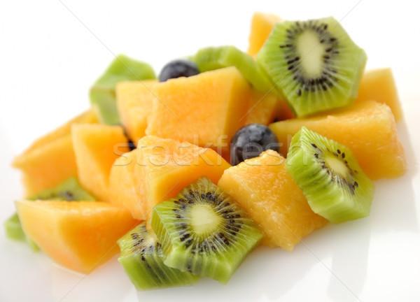 фруктовый салат свежие фрукты Салат фрукты зеленый Сток-фото © saddako2