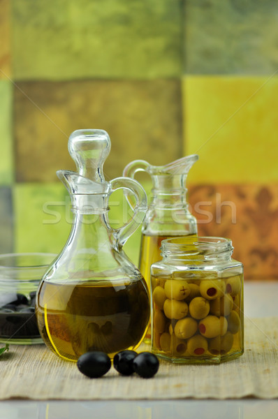 olive oil bottles Stock photo © saddako2