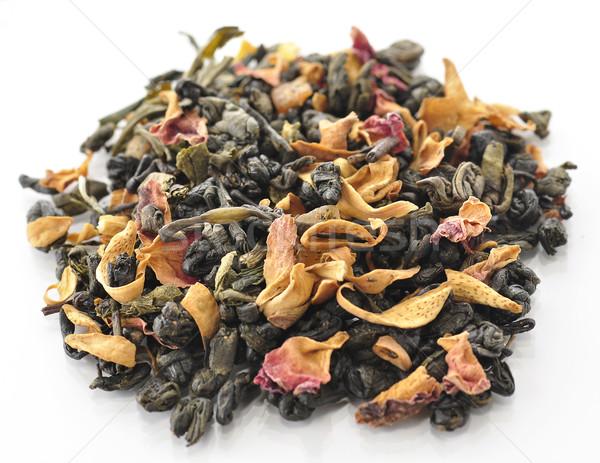 Verde sciolto tè frutti fiori sfondo Foto d'archivio © saddako2