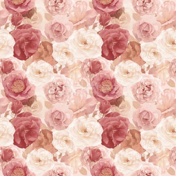 Rozen bladeren oneindig textuur bloem Stockfoto © saddako2
