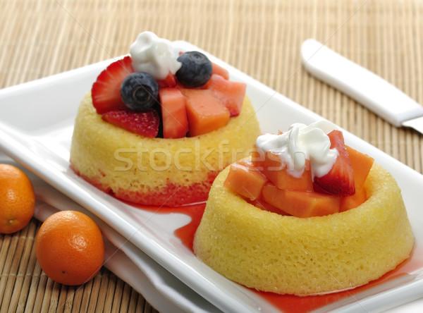 Frutta crostata dolci piccolo bianco piatto Foto d'archivio © saddako2