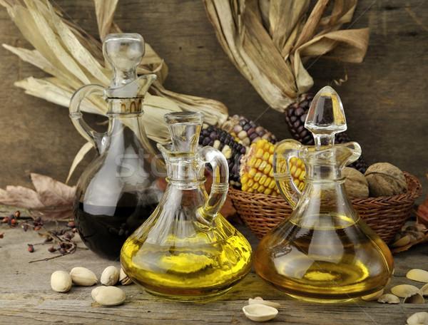 étolaj ecet ősz étel levél üveg Stock fotó © saddako2