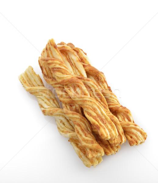 Сток-фото: сыра · десерта · Stick · белом · фоне