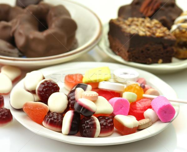 Bonbons assortiment texture chocolat couleur blanche Photo stock © saddako2