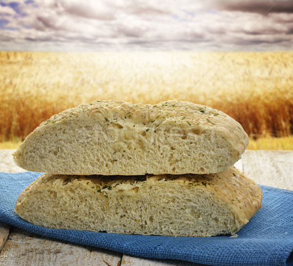 パン 新鮮な ガーリックブレッド チーズ ハーブ 雲 ストックフォト © saddako2