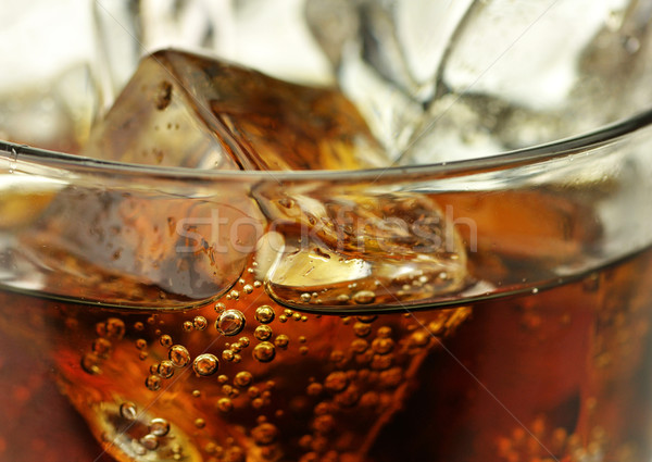 cola with ice cubes close up  Stock photo © saddako2