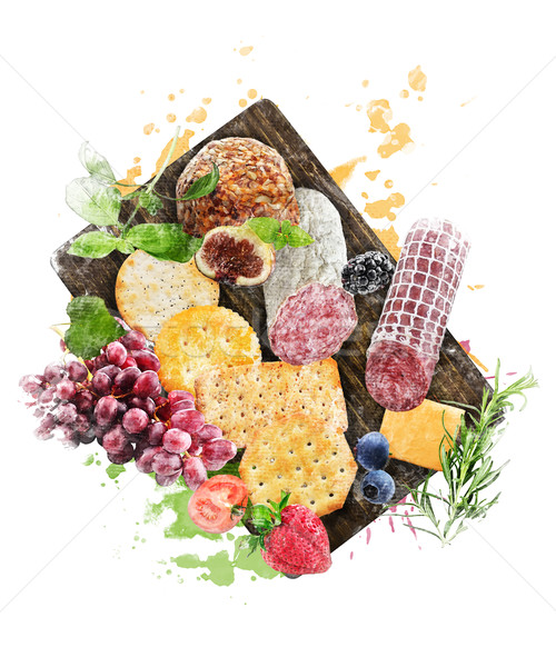 Watercolor Image Of  Appetizers Stock photo © saddako2
