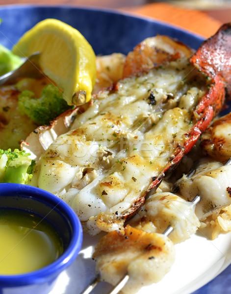 омаров блюдо обеда лимона еды Сток-фото © saddako2