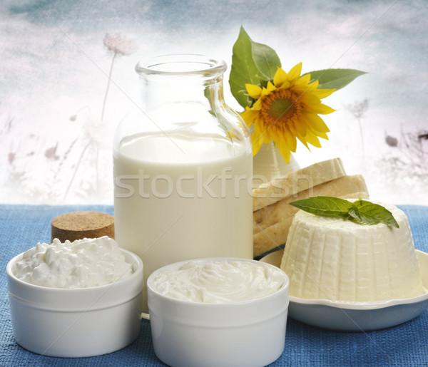 Tejtermékek természet étel üveg üveg edény Stock fotó © saddako2