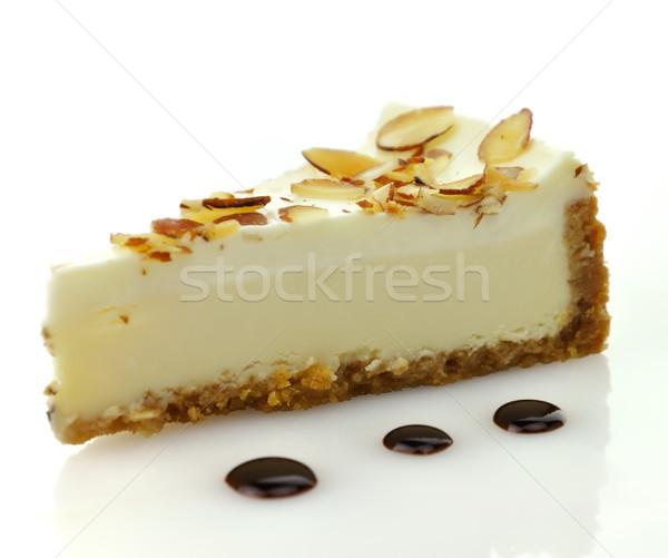 Foto d'archivio: Bianco · cioccolato · cheesecake · fetta · alimentare · dolce