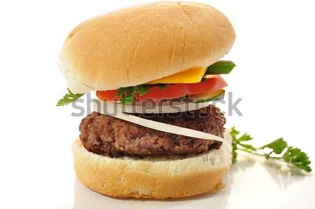Cheeseburger branco comida jantar gordura sanduíche Foto stock © saddako2