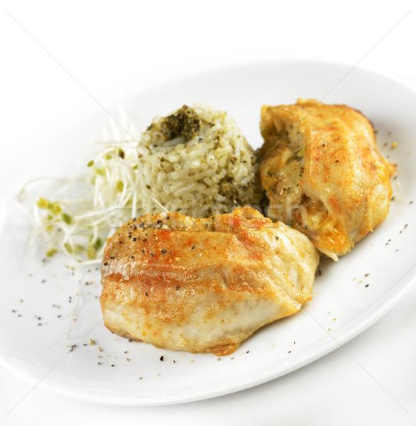 Filé arroz recheado peixe refeição frutos do mar Foto stock © saddako2