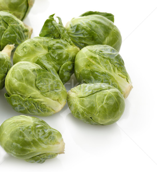 Brussel plantaardige maaltijd witte achtergrond ruw vegetarisch Stockfoto © saddako2