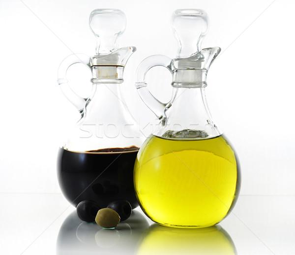 Olio aceto bottiglie alimentare cena insalata Foto d'archivio © saddako2