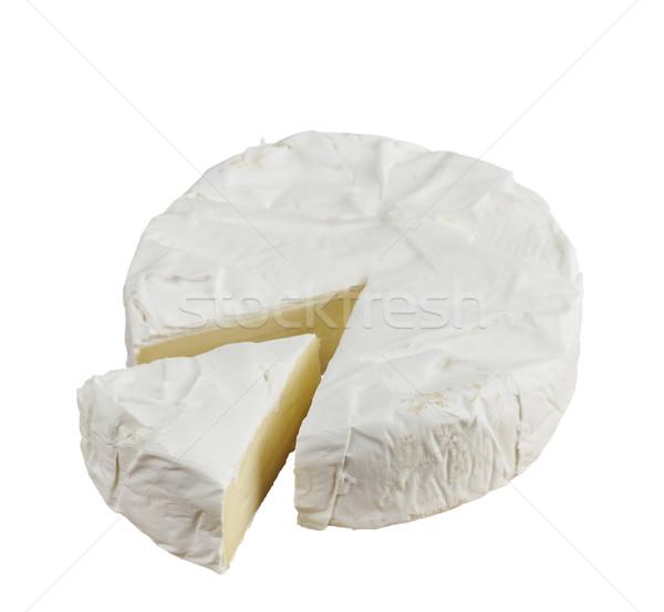 Brie kaas wiel geïsoleerd witte voedsel Stockfoto © saddako2